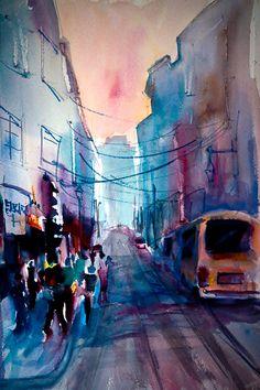 New York City Street Corner by Joe Giuffrida