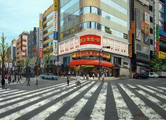"""GINZA, TOKYO 11"" By Socrates Rizquez - Enamels on melamine. www.socrates-art.es"