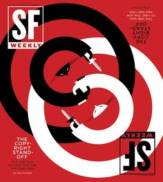 SF Weekly: Copyright Standoff. Art Direction and Illustration by Andrew J. Nilsen