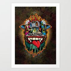 Yo! DJ! Art Print by HOOKEEAK - $18.00