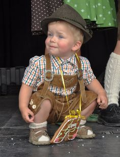 Sweet little boy in his lederhosen....