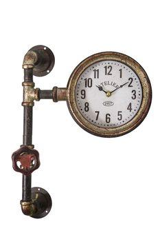 Διακοσμητικά :: Ρολόγια Τοίχου :: Ρολόι Τοίχου Μεταλλικό Atelier Industrial 30εκ. Clock, Wall, Design, Home Decor, Atelier, Watch, Decoration Home, Room Decor