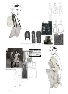 Fashion Portfolio - fashion sketchbook drawings & fashion design development - layout; fashion illustration // Natalie Martin