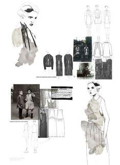 Fashion Portfolio - fashion sketchbook drawings & fashion design development - layout; fashion illustration // Natalie Martin