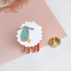 Trend Mark Cute Animal Sheep Enamel Pins For Women Girl Icons Collar Brooches Jewelry Lapel Clothing Bag Accessories Enamel Pin Funny Show Suitable For Men Women And Children
