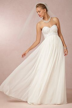 Chic A line Sweetheart Chiffon Empire Waist Floor Length Wedding Dress Affordable Wedding Dresses, Wedding Dresses For Sale, Bridal Dresses, Wedding Gowns, Bridesmaid Dresses, Reception Dresses, Wedding Outfits, Unique Dresses, Boho Wedding