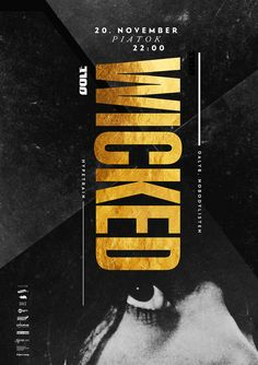 Wicked November by Krzysztof Iwanski on Inspirationde Creative Posters, Creative Logo, Creative Design, Typo Poster, Typographic Poster, Brick Wallpaper Iphone, Ad Design, Print Design, Poster Design Inspiration
