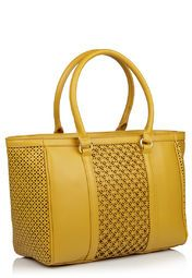 United Colors of Benetton Mustard Yellow Shopping Bag