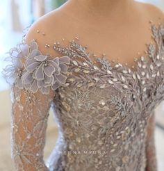 Things that make me starry eyed Kebaya Modern Dress, Kebaya Dress, Kebaya Wedding, Wedding Dresses, Formal Dresses, Dress Brukat, Lace Dress, Ao Dai Wedding, Indonesian Kebaya