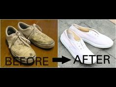 How to clean white canvas shoes with baking soda | Vans | Converse | Adidas  Superstars