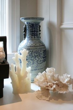 coral and porcelain