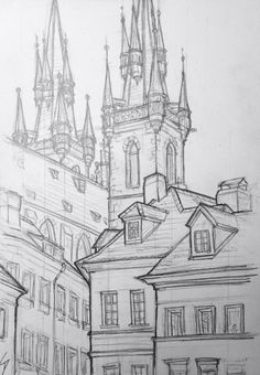 ' Drew this perched on the cobbles beside an archw… Quick Sketch.' Drew this perched. Cool Art Drawings, Pencil Art Drawings, Art Drawings Sketches, Architecture Drawing Sketchbooks, Architecture Concept Drawings, City Drawing, Drawing Room, Arte Sketchbook, Urban Sketching