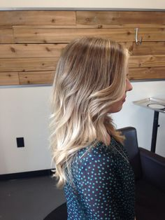 Soft blonde ombre with highlights