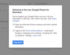 Google Places Email Warning: Do not ignore this email if you get one.  Action needs to be taken. Google Account, Get One, Insight, About Me Blog, Action, Internet, Business, Places, Tips