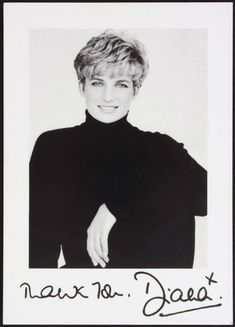 Princess Diana, a stunningly beautiful woman with class, style, and compassion who died too young.