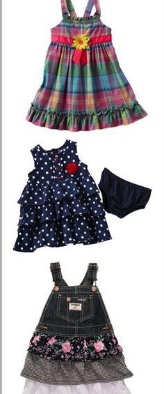 OshKosh B'gosh jumpers and dresses that'll make her jump for joy. #Kohls