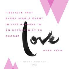 Monday Motivation: Love Over Fear | Move Nourish Believe