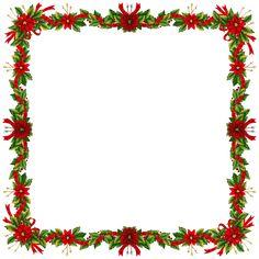 Large Christmas Transparent PNG Photo Frame