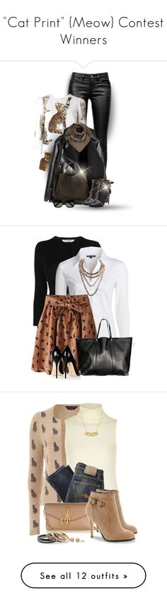 """""""""""Cat Print"""" {Meow} Contest Winners"""" by colierollers ❤ liked on Polyvore featuring Current/Elliott, Dolce&Gabbana, Yves Saint Laurent, Valentino, Louis Vuitton, L.K.Bennett, NIC+ZOE, VIPARO, Jimmy Choo and Giuseppe Zanotti"""
