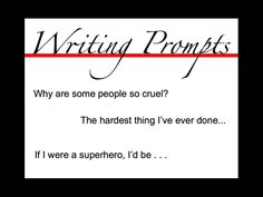 What can i do for my creative writing in english? need lots of ideas!?