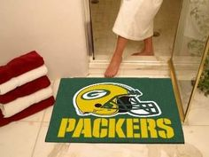 "Green Bay Packers All-Star Mat 33.75""x42.5"""