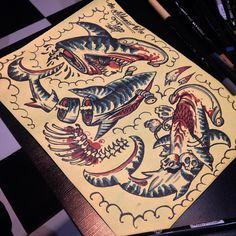 "75 Likes, 2 Comments - Traditional Tattoo Saigon (@truongnguyen_jase) on Instagram: ""#thealchemisttattoo #traditionalsaigon #oldschoolsaigon #classictattoo #trflash #flash_work…"""