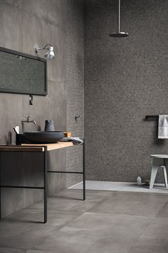 Full-body porcelain stoneware wall-floor tiles with concrete effect - Marazzi
