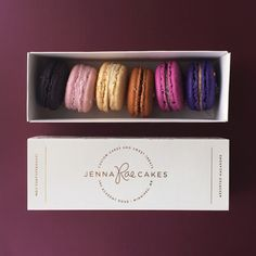 6-box of #macarons by #jennaraecakes | packaging designed by Ashley Nicole