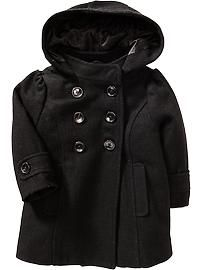 Hooded Wool-Blend Peacoats for Baby