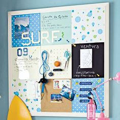 Great idea.  I am going to make one of these for Anna's room.  DIY will save some money.