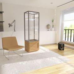 Γυάλινη Βιτρίνα Καταστήματος με ανοιγόμενη πόρτα και ντουλάπι μελαμίνης Divider, Room, Furniture, Home Decor, Cabinets, Bedroom, Decoration Home, Room Decor, Rooms