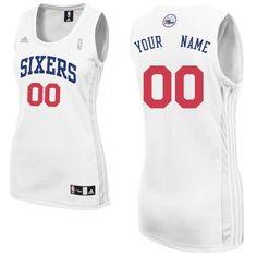 ecc555d27 Customized Home NBA Tailored Fit Design Women Swingman Philadelphia 76ers  White Adidas Jerseys Indiana Pacers Jersey