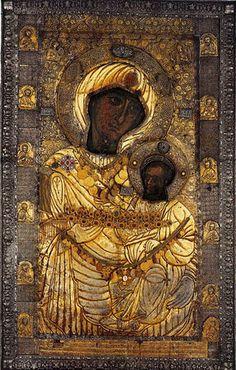 The Panagia Portaitissa or the Iveron Theotokos Orthodox iconProcessional Banner Иверская икона Божией Матери