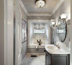 Luminaire salle de bain en nickel brossé