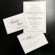Custom-designed, traditional, Jewish wedding invitation suite by Fingerprint Designs