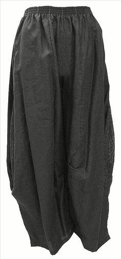 AKH Fashion Lagenlook weite Ballonhose Leinenhose in schwarz XL Mode bei www.modeolymp.lafeo.de