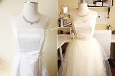 before and after $20 prom dress from a thrift store. #diy