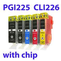 5pk compatible catridge Canon PGI-225BK CLI-226 BK/C/M/Y FOR Canon Pixma MG5220 6220 8120 Canon Cartridge, Magenta, Learning, Studying, Teaching, Onderwijs