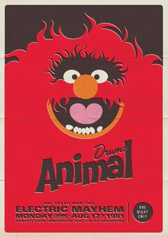 Retro Muppet Concert Posters by Michael DePippo
