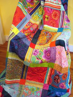 Queen Quilt With Kaffe Fasset Fabrics Bold and par uniquelynancy, $600.00