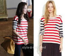 YoonA in Madewell: Striped Transmission Tee