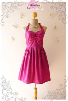 Purple Summer Dress Cute Retro Dress Purple Dress by Amordress, $46.50