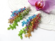 Excited to share the latest addition to my shop: Coral colorful earrings Statement earrings Long beaded tassel earrings Seed beads earrings Dangle Wedding earrings Gypsy hippie jewelry Big Gold Hoop Earrings, Green Tassel Earrings, Seed Bead Earrings, Chain Earrings, Beaded Earrings, Beaded Jewelry, Statement Earrings, Seed Beads, Cluster Earrings