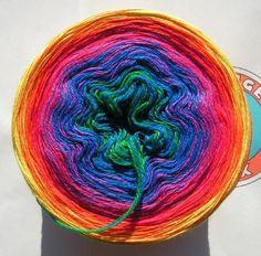 "188g/600m Merino extrafein ""Rainbow"" von OrangeSox auf DaWanda.com"