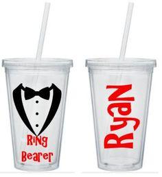 Ring Bearer Tumbler, Ring Bearer Cup, Ring Bearer Gift, Personalized