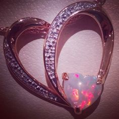 Dimond and opal heart necklace from Kay's props to Seth❤