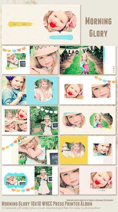 Morning Glory 10x10 WHCC Press Printed Album por 7thavenuedesigns