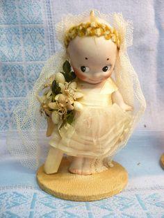 S719 3 Wedding Kewpie Dolls Germany Circa 1913 1930s Bride Groom Minister   eBay