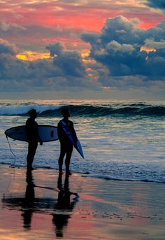 Those surf sessions under a skyscape that takes your breath away...