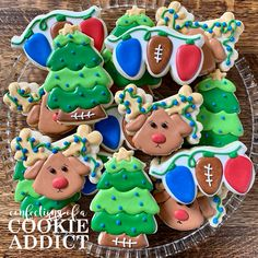 Christmas Sugar Cookies Football Cookies, Christmas Sugar Cookies, Party, Desserts, Food, Tailgate Desserts, Soccer Cookies, Deserts, Essen